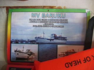 mv Baruku calendar