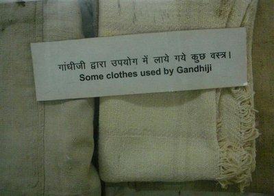 CG -1.09 - Ghandi's clothes