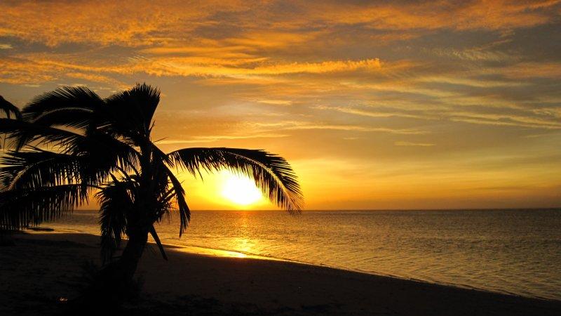 Sonnenuntergang auf Aitutaki
