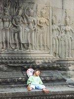 sweet little girl at Angkor Wat