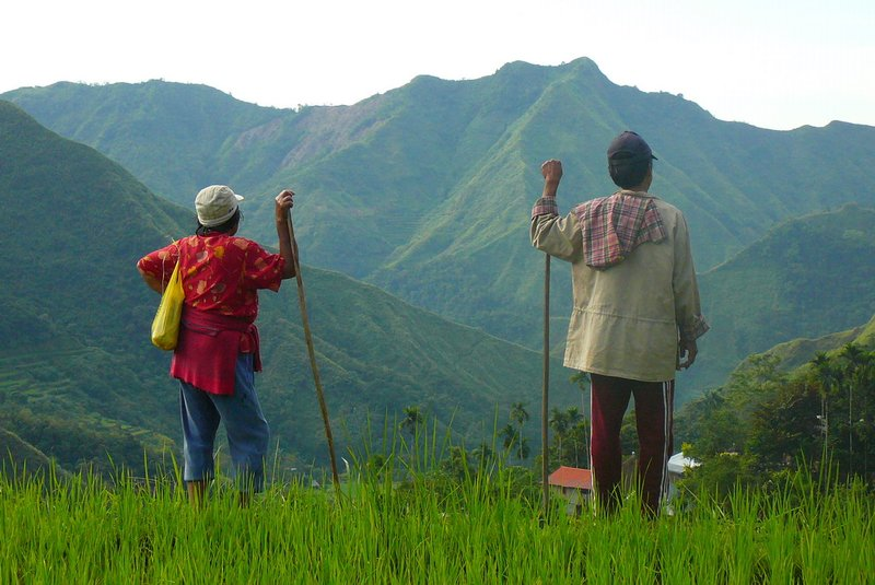 Old couple in Batad