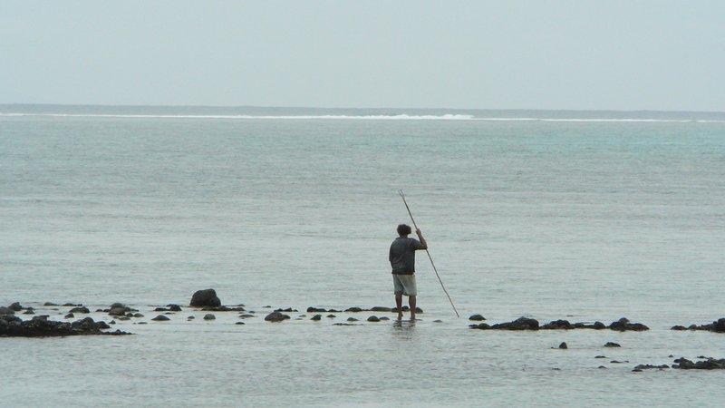 15. Fisherman on Vuna reef