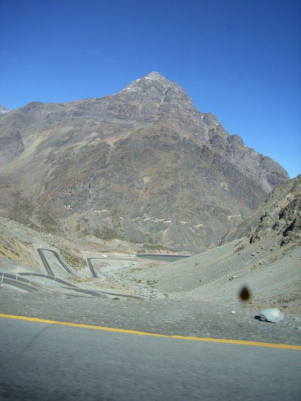 The pass between Santiago and Mendoza