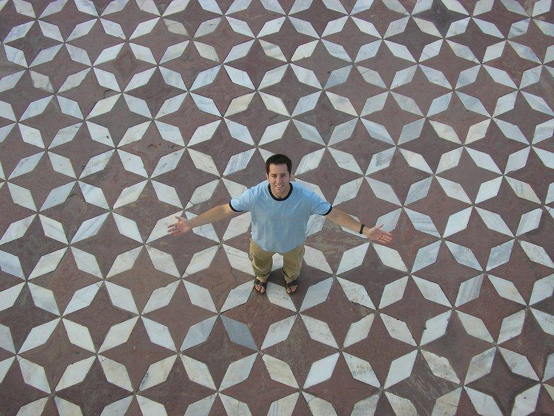 Floor of the Taj Mahal