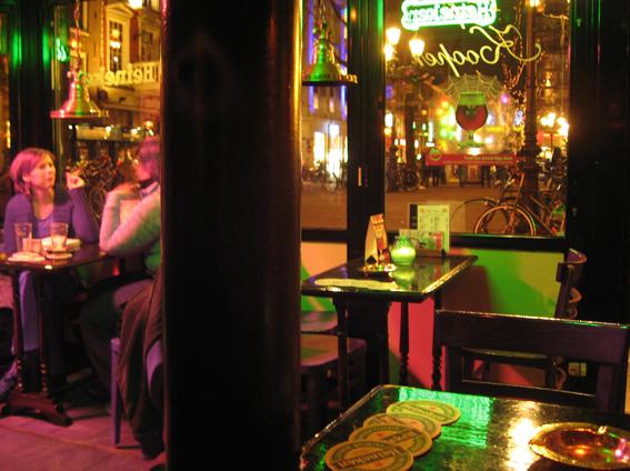 Amsterdam bar at night