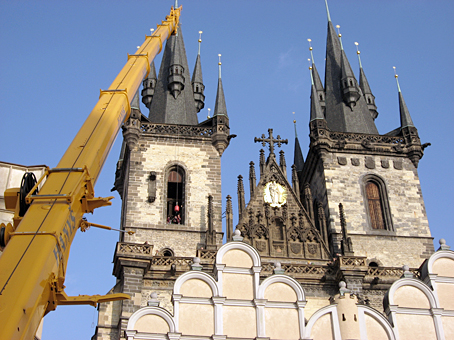 The Gothic steeples await its bells
