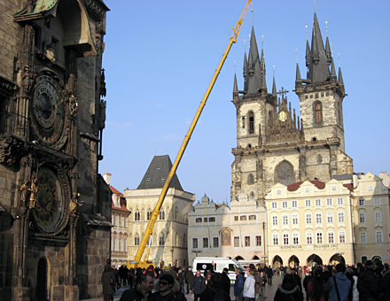 Prague Old Town Square puts on a show