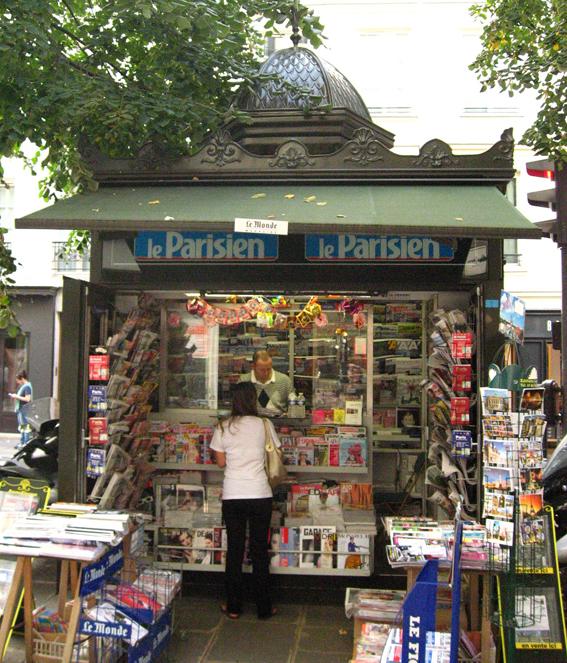 Paris news stand
