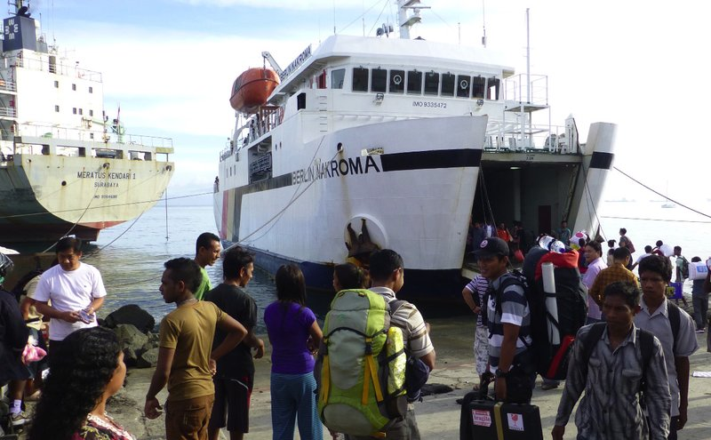Boarding Atauro ferry