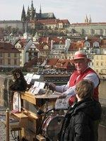 Busking on the Charles Bridge, Prague