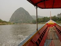 The longboat ride to the elephants