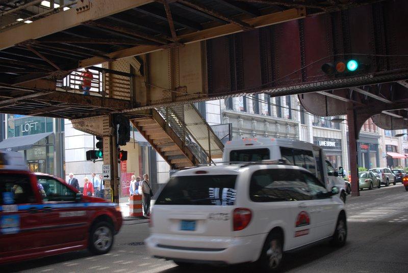 Trains meet cars and pedestrians