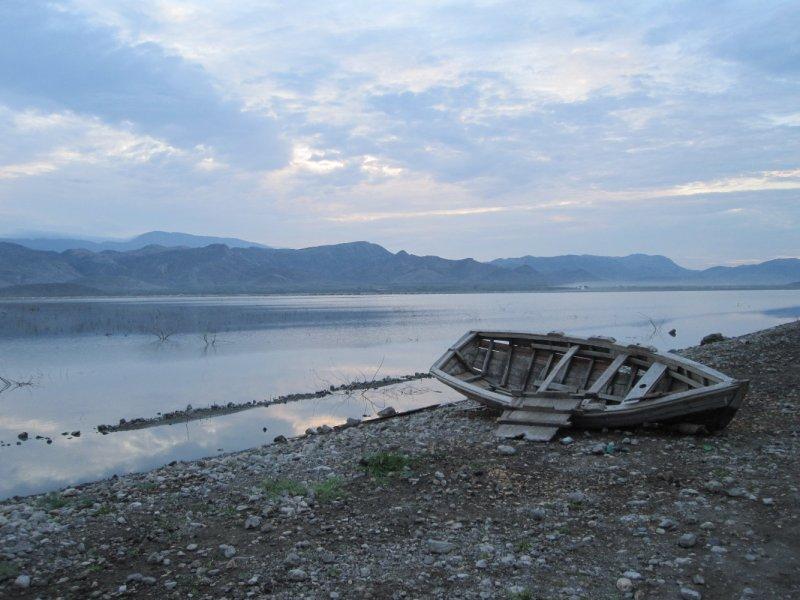 boat at sunrise