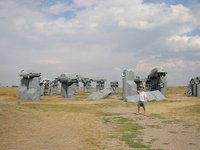 Carhenge and Michael