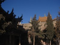 Small Local Temple in the city of Bayan Hot