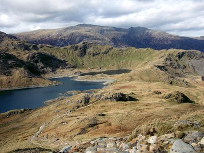 Llyn Llydaw and the Glyders