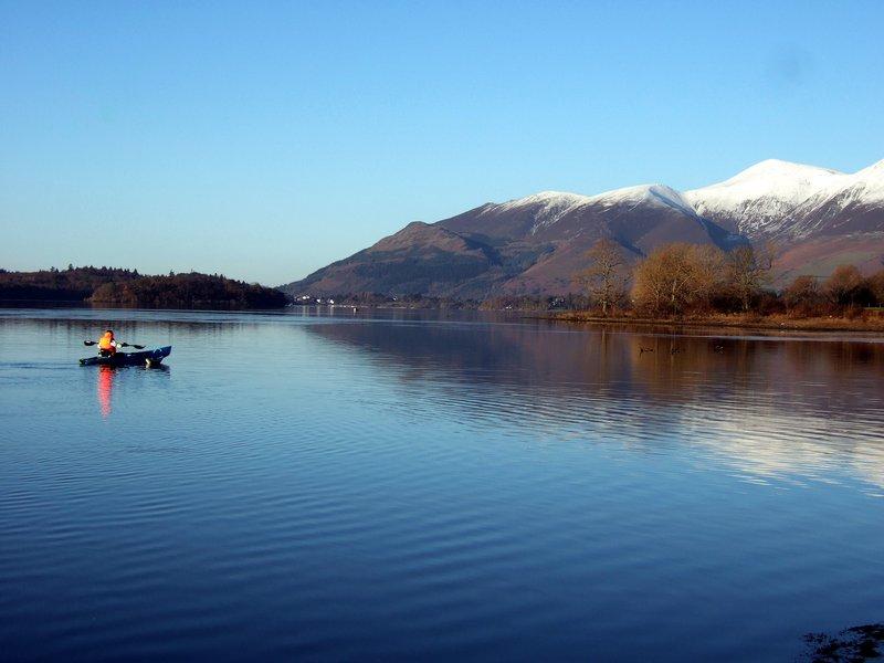 Canoeist on Derwentwater