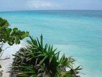 The Calm blue green sea