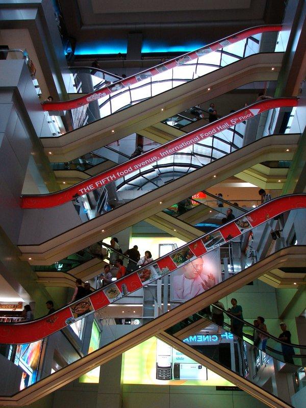 Escalators at MBK