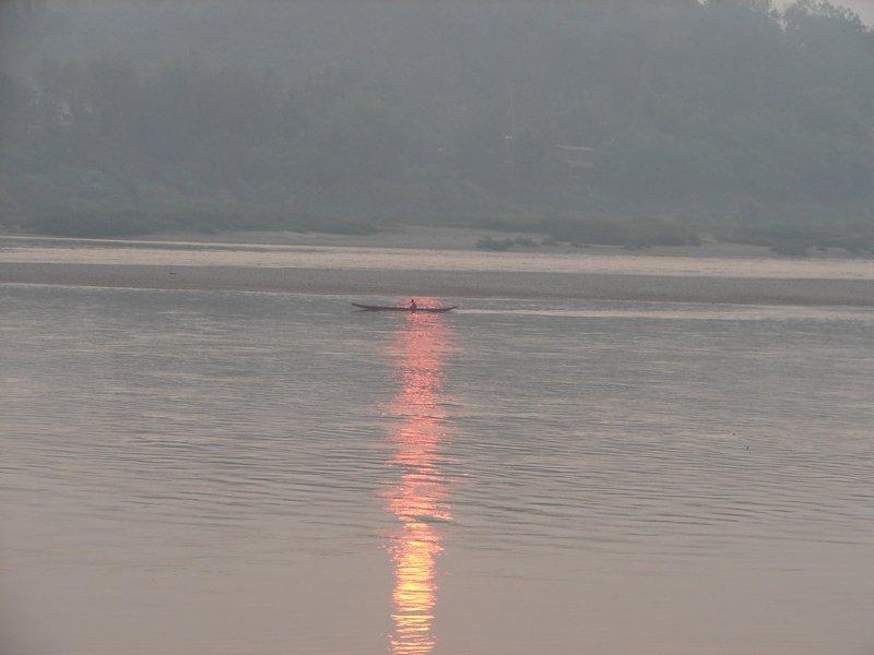 Dawn over the Mekong at Chiang Khong