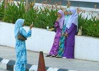 Outside the Islamic Arts Museum