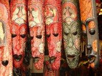 Masks on sale in Chinatown, Melaka