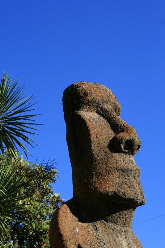 A Moai from Rapa Nui (Easter Island) Vaparaiso, Chile