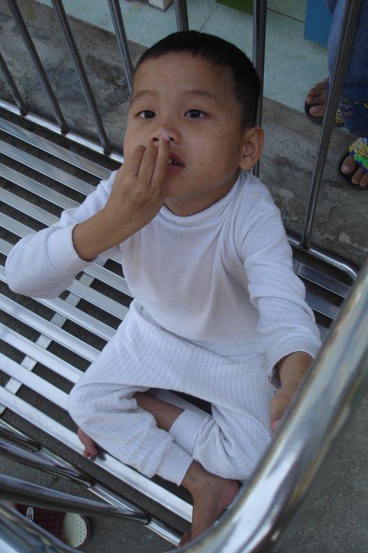 disabled boy at social support , Danang