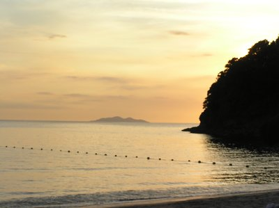 Sunset at the Kawayan Cove