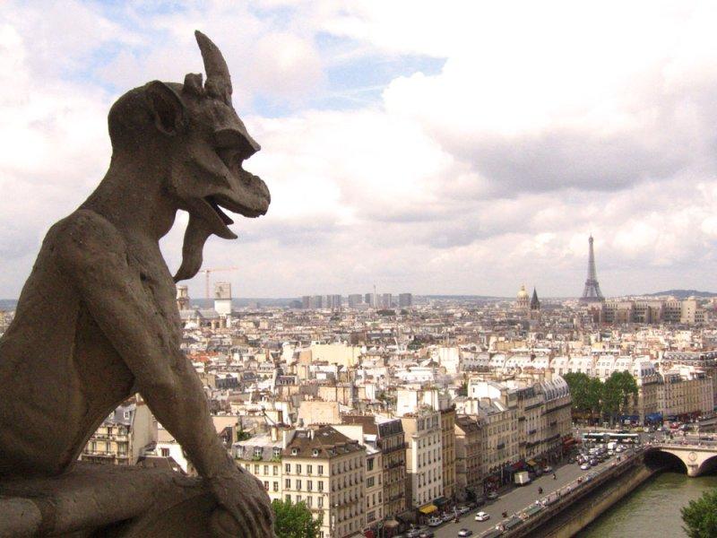 Gargoyle on guard over Paris