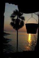 sunrise behind the bucket