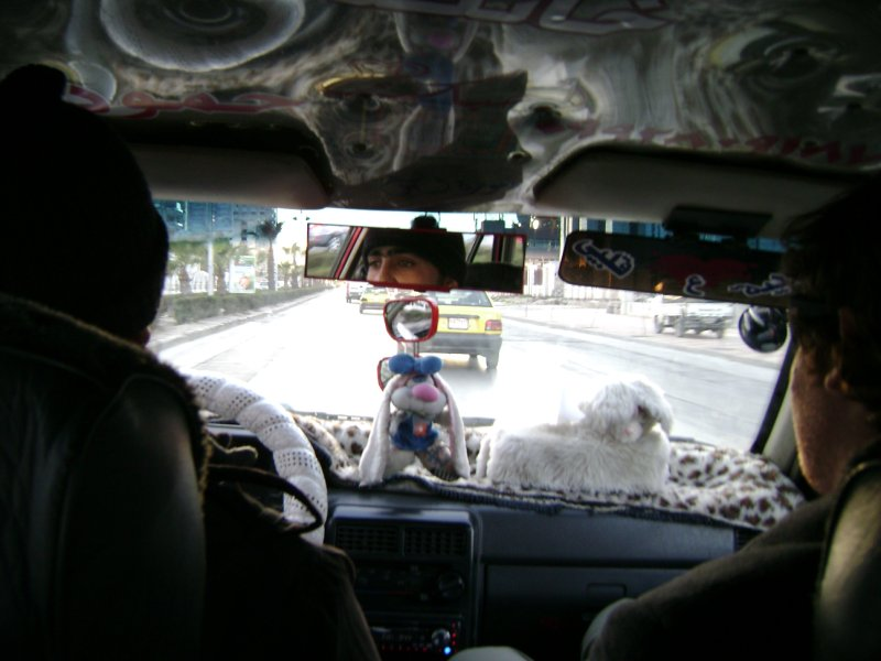 Syrian Taxi from the inside