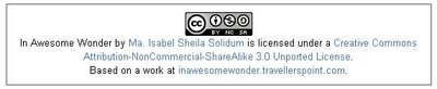 CreativeCommons License - InAwesomeWonder