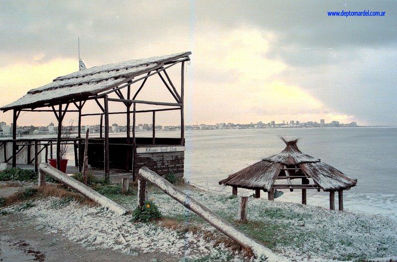 It Snows In The Coastal City Of Mar del Plata