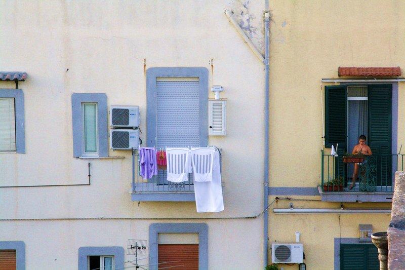 Balcony boy.