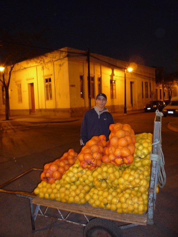 Fruit Seller Santiago Chile