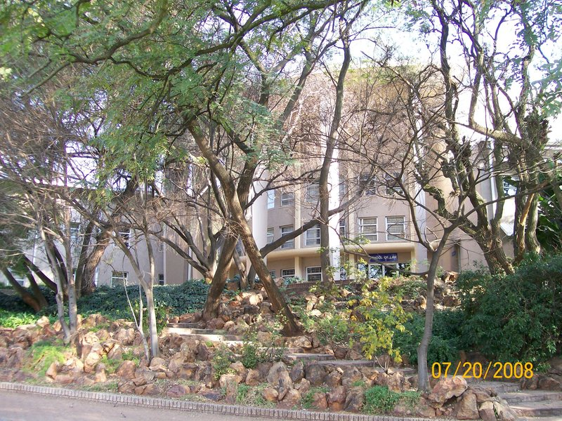 The Law Building among Vegetation