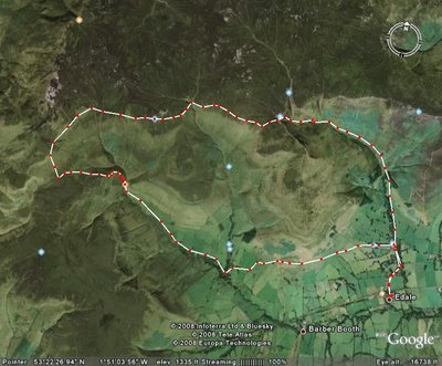 walk route edale upper booth jacobs ladder kinder edges grinsbrook clough nags head