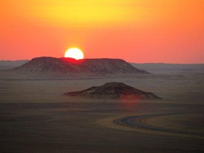 Sunset in the Black desert 2