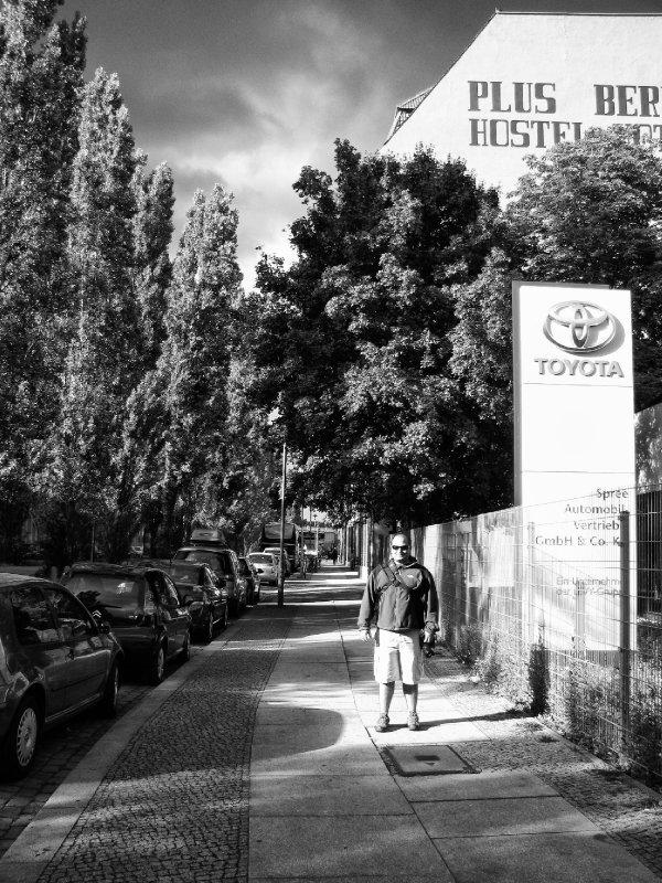 Outside the Plus Hostel