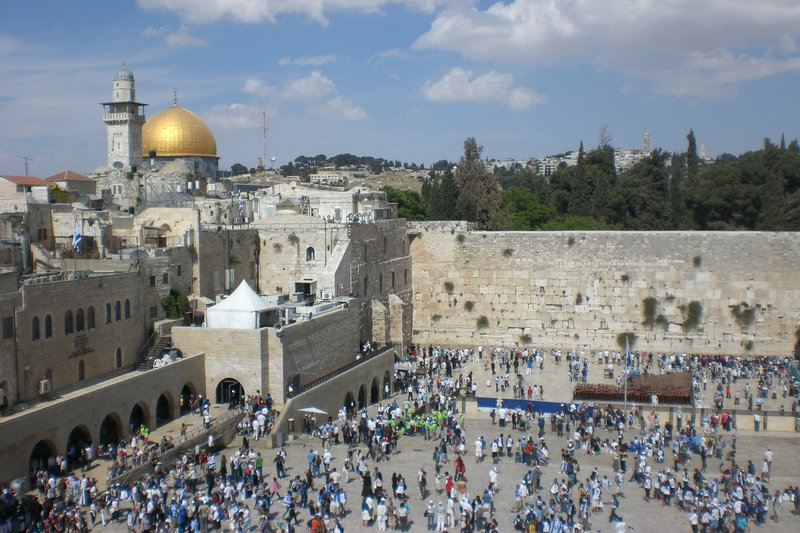 View of the Western Wall (Wailing Wall)