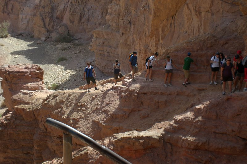 Climbing Red Canyon