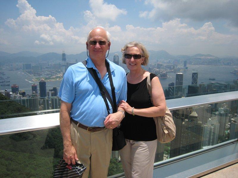 On Victoria Peak Overlooking Hong Kong