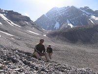 Mt. Stok Kangri on the background