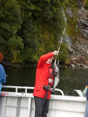 Doubtfull Sound - Kate, with the catch of the day