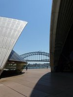 opera house with bridge in background