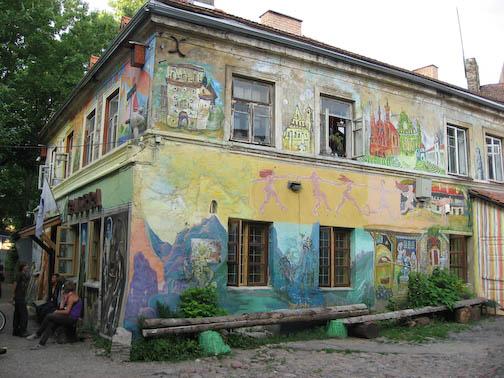 building in Uzupis