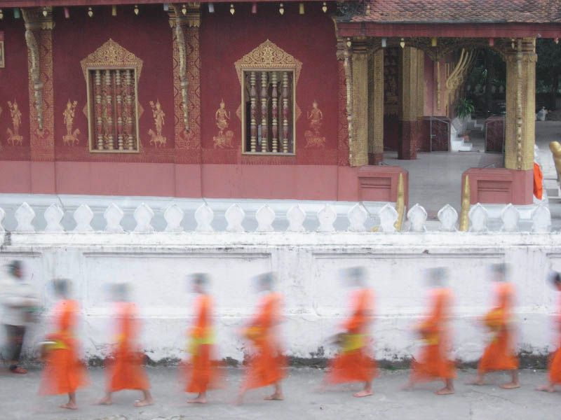 Monks during morning procession