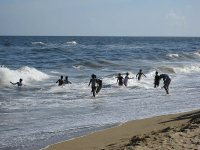 Beach in Chennai (Madras) - boys playing in the waves