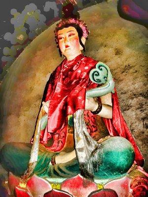 A Painted Buddha